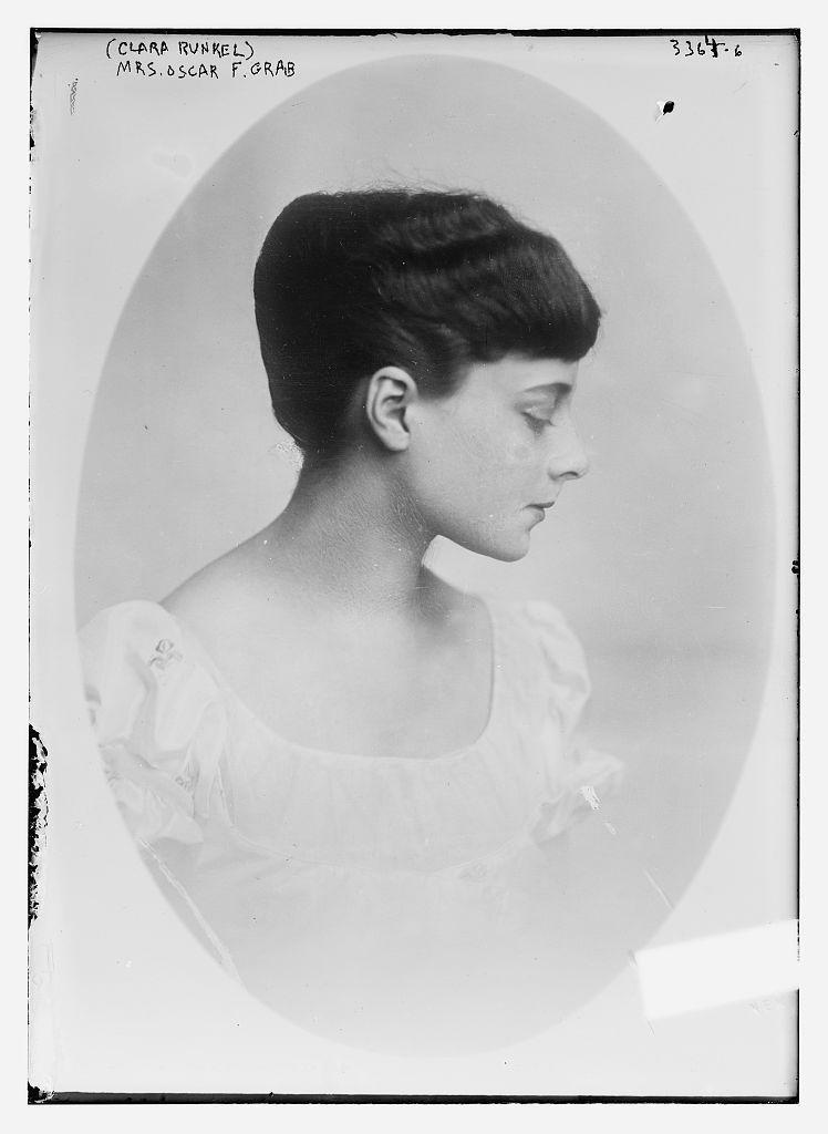 Clara Runkle, c. 1910.