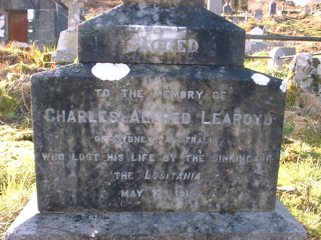 Headstone of Charles Alfred Learoyd