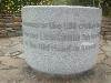 Close up of the memorial dedication.
