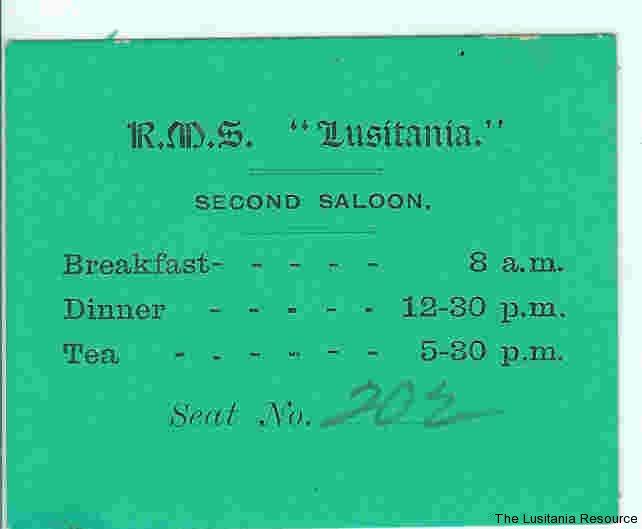 lusitania-menu