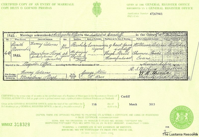 adams_henry_lloyd_mary_ann_marriage_cert_9nov1886