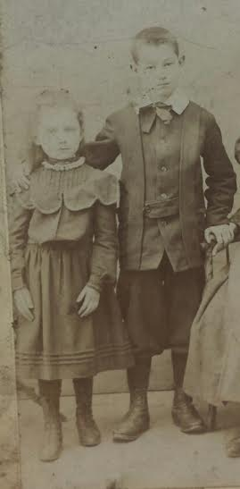 Annie and her brother Patrick, circa 1890. Photo courtesy Richard Coplen.